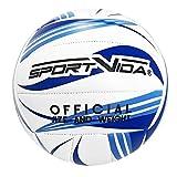 Sporvida Ballon de Volley-Ball pour Enfant et Adulte (Blanc-Bleu)