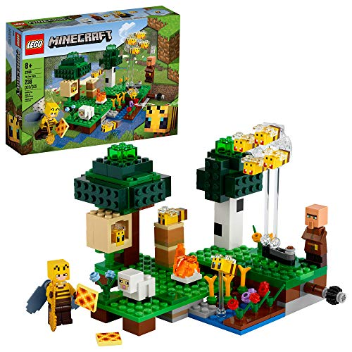 LEGO Minecraft The Bee Farm 21165 Minecraft Building Action Toy with a Beekeeper, Plus Cool Bee and Sheep Figures, New 2021 (238 Pieces)