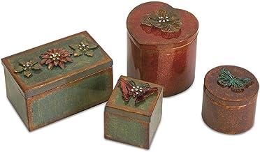 Imax 74035-4RF Ellie Decorative Boxes - Set of 4, Multi/Color