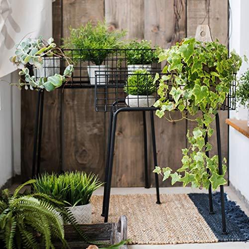 Blumenregal Hochwertige Eisen Regale for Gartenpflanzen verwendet, um schmücken Gärten, Terrassen, Balkone und Wohnungen (Size : 54 x 23 x 62 cm)