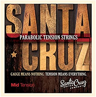 Santa Cruz Parabolic Tension Acoustic Guitar Strings Mid Tension