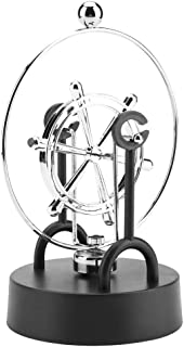 Riuty Perpetual Motion Model Shake Wiggle Device Electronic Perpetual Motion Swinging Desk Toy Kinetic Art Craft Decoration(#C203)