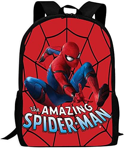 Spider-Man Zaino per la scuola, per ragazzi e ragazze, 1 – 6 Classe Superhero, ergonomico, alta capacità, super leggero, in nylon (Spider-Man 15,17 pollici)
