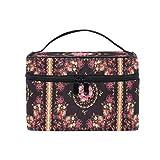 Neceser de Maquillaje para Mujer, diseño étnico de Pavos Reales, Flores de Cachemira