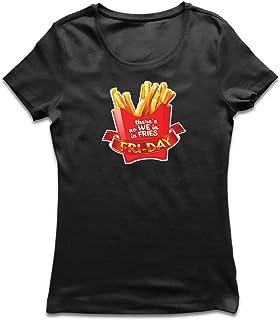 lepni.me Camiseta Mujer No Hay Nosotros con Patatas Fritas, Ropa de Viernes, Amante de la Comida chatarra