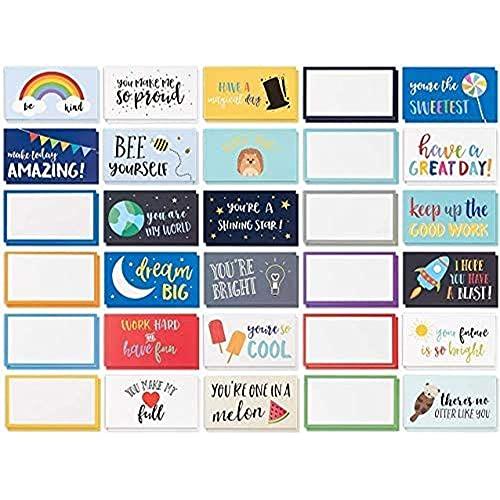 Best Paper Greetings 60 stuks lunchbox notities voor kinderen, kleurrijke inspirerende en motiverende kaarten voor…