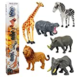 Animales Juguetes de Mini, Animales de Mundo Zoológico, Animales Plastico Salvajes Juguetes Pequeños para Niños(Entrega al Azar)