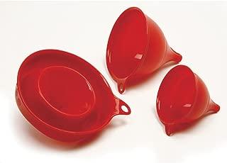 Norpro 3-Piece Silicone Funnel Set