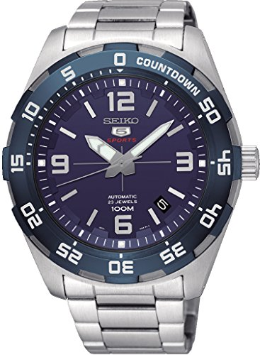 Seiko 5 Sports SRPB85 Men's Stainless Steel Blue Dial 100M Automatic Watch