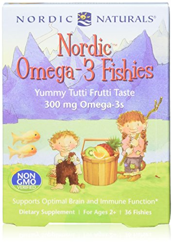 Nordic Naturals Nordic Omega-3 Fishies, Tutti Frutti - 36 Fishies, Pack of 2 - 300 mg Total Omega-3s with EPA & DHA - Healthy Brain, Mood, Vision & Immune System - Non-GMO - 72 Total Servings