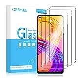 GEEMEE Protector de Pantalla para Realme 8 4G/Realme 8 Pro (6,4'),3 Pack Cristal Película Vidrio Templado Dureza 9H Alta Sensibilidad Cubierta Completa Screen Protector Film