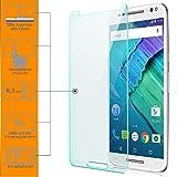 zanasta 2X Bildschirmschutz Folie aus Gehärtetem Glas für Motorola Moto X Style Schutzfolie Panzerfolie Glasfolie Schutzglas | HD Klar Transparent