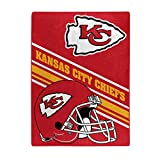 Northwest NFL Kansas City Chiefs 60x80 Raschel Slant DesignBlanket, Team Colors, One Size (1NFL080740007RET)