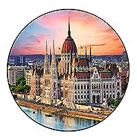 1000ピースジグソーパズル国会議事堂、ブダペスト、ハンガリー、マルチカラー-直径67.5cm