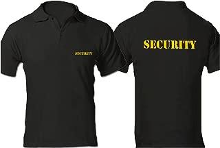Security Polo 衫,事件/俱乐部防护,干混合领衬衫,金黄色优质印花