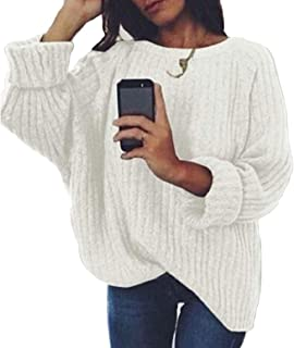 Womens Round Neck Color Block Long Sleeve Sweater Pullover Jumpers Black US Large