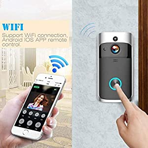 Zippem Home Wireless Remote Monitoring Real-Time Two-Way Talk Video Doorbell Remote Home Monitoring Systems