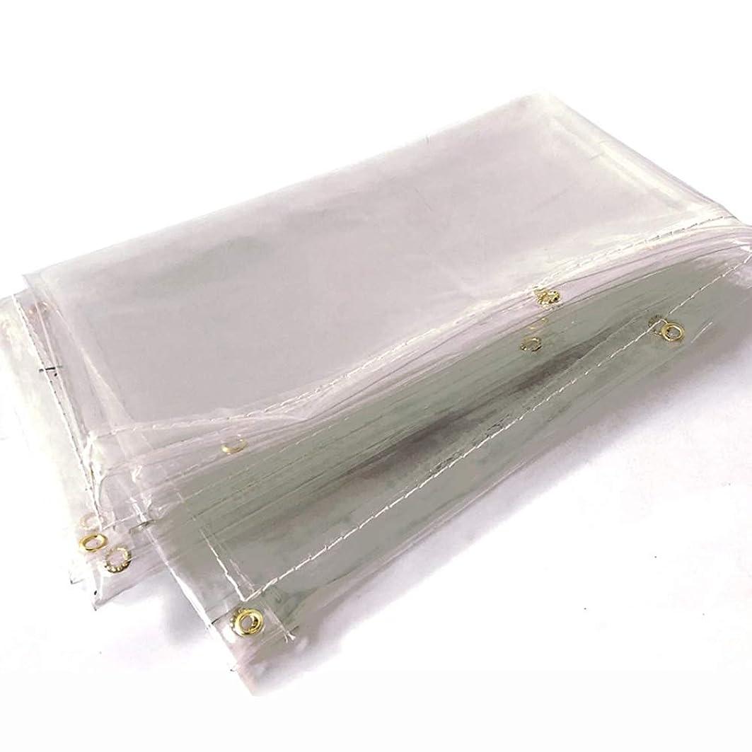 メッセンジャー連続的動物HPLL 多目的防水シート 0.5ミリメートル厚く透明な高靭性防水シート、防水プラスチックキャノピー布の窓バルコニー防雨窓の厚さ屋外日焼け止め布 防水シートのプラスチック布,防雨布 (Size : 1.1m×1.6m)