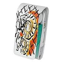 スマコレ IQOS専用 レザーケース 【従来型/新型 2.4PLUS 両対応】 専用 ケース カバー 合皮 カバー 収納 食べ物 絵 貝 013301