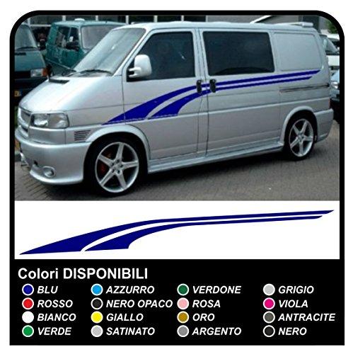 Adesivi per furgone Van mini bus minibus grafiche furgone adesivi decalcomanie strisce CAMPER van e furgone (ROSSO)