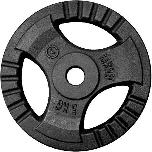 Hantelscheibe Gusseisen Platte Rad Tri-Grip KAWMET 30,5mm 5kg