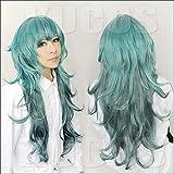 Junww Anime Tokyo Ghoul Sen Takatsuki Eto Cosplay Wigs 80cm Long Green Heat Resistant Synthetic Hair Wig + Wig Cap