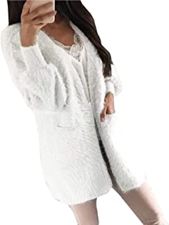 Women Casual Open Front Long Sleeve Solid Color Cardigan Sweater Coat