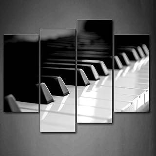 First Wall Art - Black and White Piano Keyboard Wall Art Pai