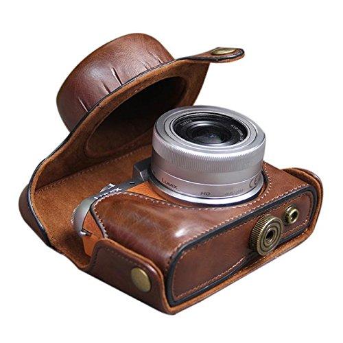 ALIKEEY Zubehör Ledertasche für Kameratasche für Panasonic GF8 GF7 CO