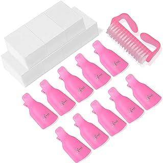 Nail Polish Remover Clips,TsMADDTs Acrylic Nail Art Soak Off Clip Caps UV Gel Polish Removal Pink