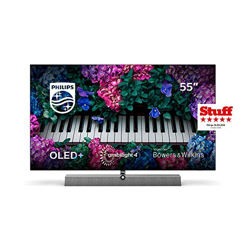 Philips Ambilight TV 55OLED935/12 OLED TV 55 Zoll - 139 cm mit Sound von Bowers & Wilkins (P5 Picture Engine mit KI, 4K UHD, Dolby Vision∙Atmos, Android TV, Triple Tuner) [2020/2021 Modell]