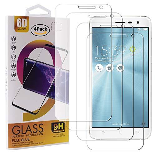 Guran 4 Paquete Cristal Templado Protector de Pantalla para ASUS Zenfone 3...