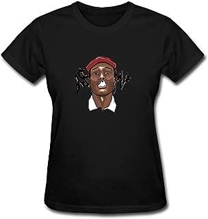 Duanfu ASAP Rocky Women's Cotton Short Sleeve T-Shirt