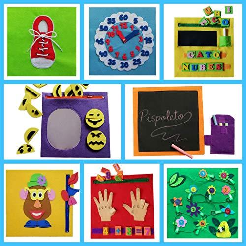 QUIET BOOK. Libro sensorial, Montessori, juguete educativo, hecho a mano, estimulación, desarrollo sensorial, psicomotricidad, creatividad. Se personaliza con el nombre.