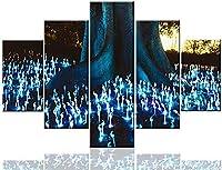 壁の風景の木の根の絵画のための広いリビングルームの写真光の写真パーティーの装飾現代の家の装飾ジークレーポスターとプリント