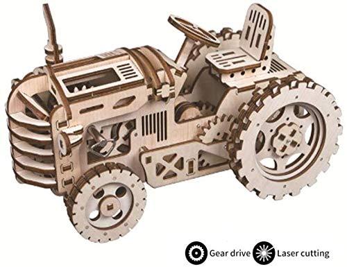Houten 3D-puzzel model speelgoed - DIY stereoscopisch mechanisch model Lasersnijden Composiet tandwiel Rotatie Clockwork Energy Anniversary Child Gift