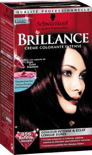 Schwarzkopf Brillance - Coloration Permanente - Noir Rouge Organdi 896