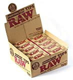 RAW Natural Hemp & Cotton Rolling Wide (Pack of 50tips) Full Sealed Box