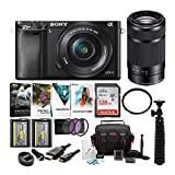 Sony Alpha a6000 Mirrorless Camera with 16-50mm and 55-210mm Lenses Bundle (10 Items)
