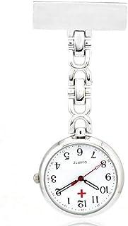 N-K Quarzuhr Bewegung Retro Taschenuhr Krankenschwester Tisch Brosche Geschenk Uhr Weiß Praktisches Design und langlebig