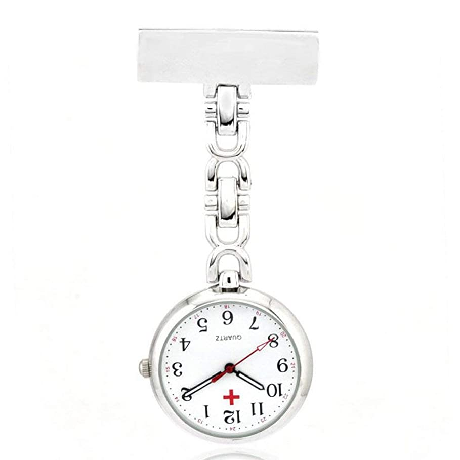 自由フローに向けて出発Tyou 懐中時計 クォーツ 腕時計 ウォッチ 逆さ時計 アナログ表示 逆さ文字盤 看護師さん 医師 男女兼用