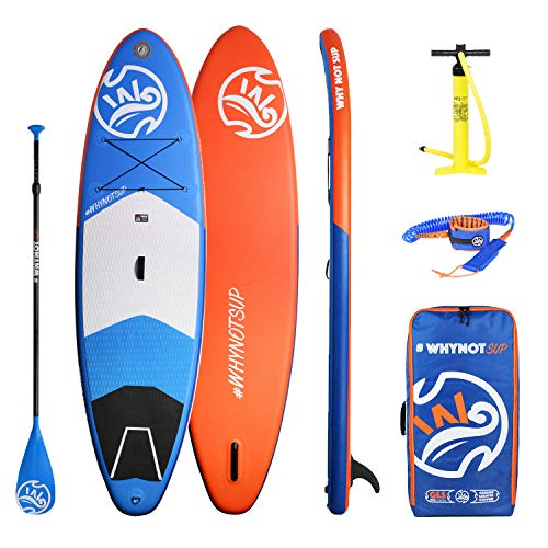 KUDO! Inflatable Stand Up Paddle Boards, 10'2' x 33' x 6' with ISUP Travel Package Waterproof, 3...