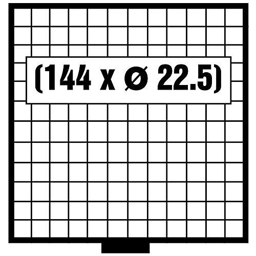 Coffre-fort Porte-monnaie Boîtes Beba – mb6112g – 144 x 22,5 mm compartiments gratuit avec feutre – verts pour pièces jusqu'à 22,5 mm et monnaie Capsules jusqu'à Caps 16,5 mm – Idéal pour 1, 2, 5, 10, 20 Cents & 1–50 Pfennig