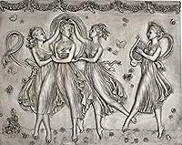 ギリシア神話 踊る3人の女神 と楽器を弾く女神 壁掛けオブジェ