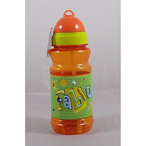 MY NAME Gourde de sport en plastique avec prénom « Fabio » en relief, (H) 19 cm