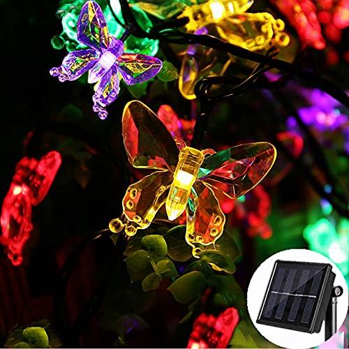 ICONEO - Luci solari esterne, 6.5m 30 LED, per illuminazione esterna, 8 modalità di illuminazione da esterni, decorazione per giardino, albero di Natale, casa, patio