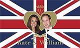 Unbekannt Royal Wedding William und Kate groß Flagge 5ft x 3ft T2