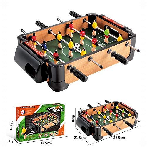 FANCYKIKI Große Hölzerne Innenfußballtabelle 6 Fußballtabellendoppelkampf-Tischplattenbrettspielkindersportspielwaren (Size : A)