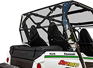 SuperATV Heavy Duty Rear Windshield for 2014+ Kawasaki Teryx 4 800/2021+ Teryx 4 S   1/4
