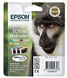 Epson Original Durabrite T0896 Monkey Multipack - Cartuchos de tinta válido para los modelos Stylus y Stylus Office SX415, SX410, SX405, BX300F y otros, Ya disponible en Amazon Dash Replenishment